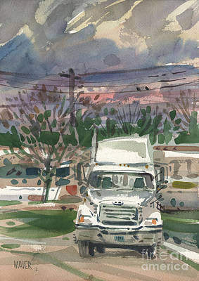 Trailer Painting - Big Rig 1 by Donald Maier