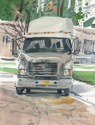 Trailer Painting - Big Rig by Donald Maier