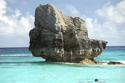 Photograph - Big Rock In Ocean - Bermuda  by Heather Kirk