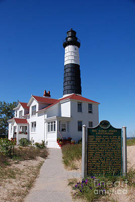 Photograph - Big Sable Point Lighthouse by Grace Grogan