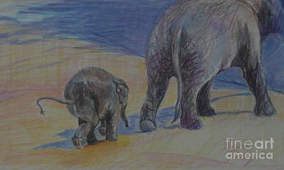 Drawing - Big Shoes To Fill by Pamela Pretty