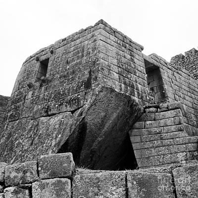 35mm Photograph - Big Structure At Machu Picchu by Darcy Michaelchuk