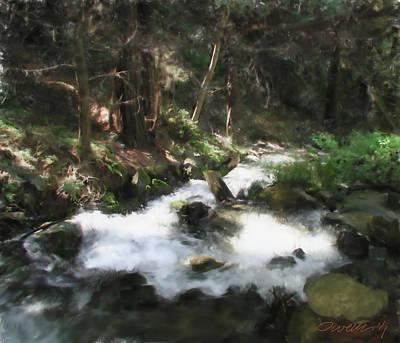 Digital Art - Big Sur River Stream by Jim Pavelle