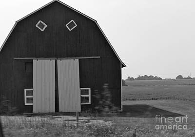 Photograph - Big Tooth Barn Black And White by Pamela Walrath