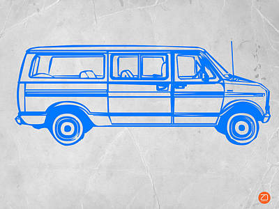 Vintage Car Drawing - Big Van by Naxart Studio