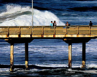 Waves Photograph - Big Waves At Ob by Russ Harris