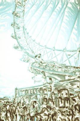 Abstract Digital Art Photograph - Big Wheel by Tom Gowanlock