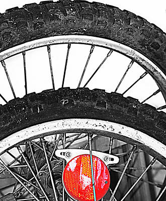 Big Wheels Keep On Turning Art Print by Empty Wall