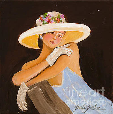 Painting - Big White Hat by Pati Pelz