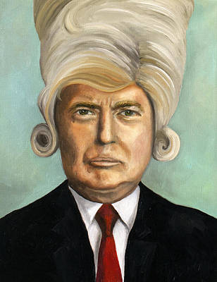 Donald Trump Wall Art - Painting - Big Wig Part 1 by Leah Saulnier The Painting Maniac