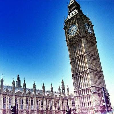 Building Photograph - #bigben #uk #england #london2012 by Abdelrahman Alawwad