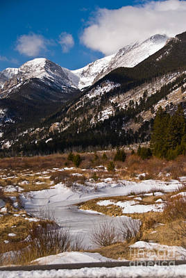 Photograph - Bighorn Mountain From Sheep Lakes by Harry Strharsky