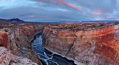 Montana State Parks Photograph - Bighorn River Winter Sunset by Leland D Howard