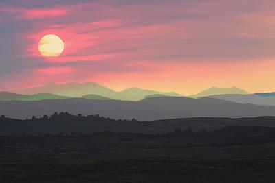 Bighorns At Sunset Art Print
