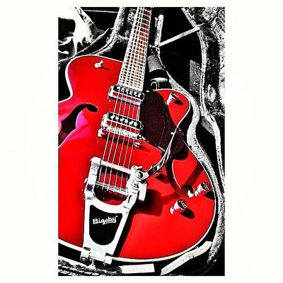 Guitar Wall Art - Photograph - Bigsby Guitar by Ale Romiti 🇮🇹📷👣