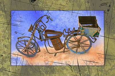 Bike 2a Print by Mauro Celotti
