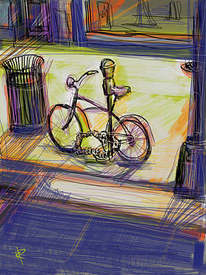 Mixed Media - Bike At Rest by Russell Pierce
