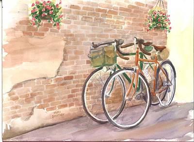 Bike Date Two Art Print