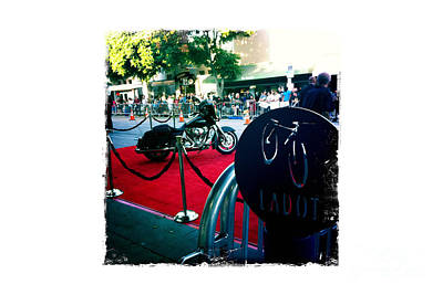Transportation Photograph - Bike Parking On The Red Carpet by Nina Prommer