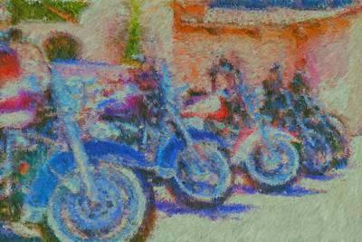 Bike Show Art Print