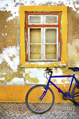 Bike Window Art Print by Carlos Caetano