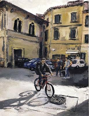 Biker Florencia Art Print by Randy Sprout