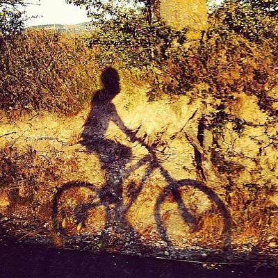 Mtb Photograph - #biker #mtb #mountainbike #shadow by Simone Montemezzo