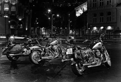 Photograph - Bikes by A A