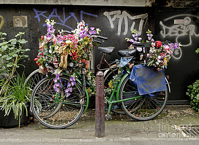 Photograph - Bikes As Art by Ed Rooney