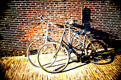 Photograph - Bikes by Mickey Clausen