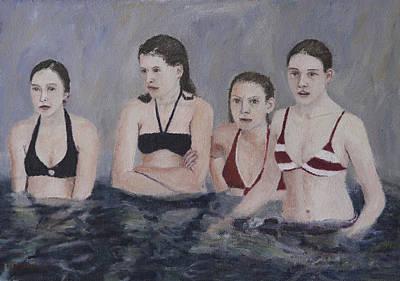 Painting - Bikini Girlfriends by Masami Iida