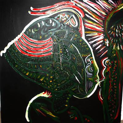 Painting - Bikira Maria And Yesu Cristu by Gloria Ssali