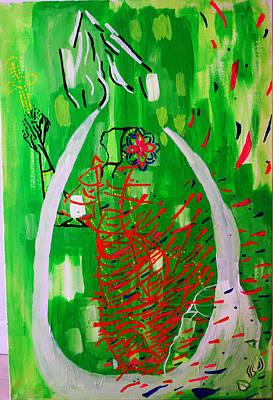 Painting - Bikira Maria - Rosa Mystica by Gloria Ssali
