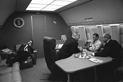 Bill Moyers Naps In A Chair On Air Art Print