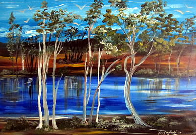 Art Print featuring the painting Billabong by Roberto Gagliardi
