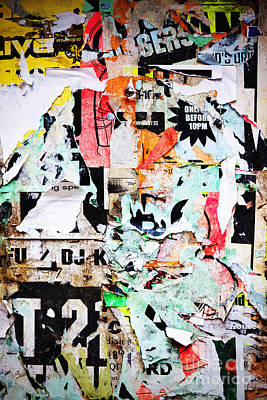 Billboard With Old Torn Posters Print by Richard Thomas