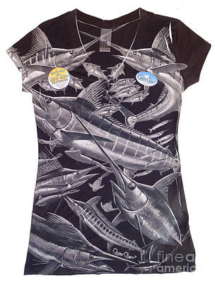 Apparel Digital Art - Billfish Ladies Shirt by Carey Chen