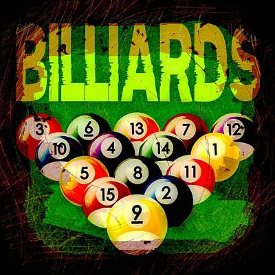 Billiard Balls Digital Art - Billiards Abstract by David G Paul