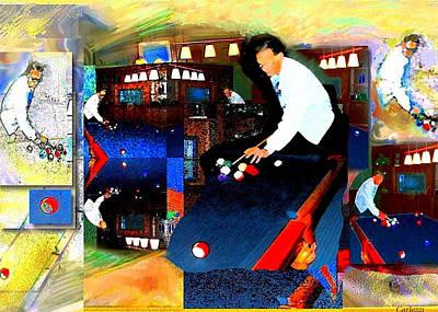 Billiards Art Print by Martha Carlozzi