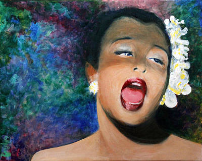 Billie Holiday Original by Carolyn Veldbloem