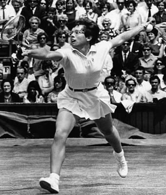 Wimbledon Photograph - Billie Jean King, Wimbledon, England by Everett