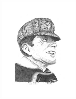 Buick Drawing - Billy Durant by Bob and Carol Garrison