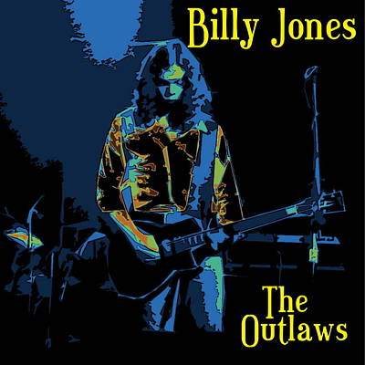 Photograph - Billy Jones Of The Outlaws At Winterland by Ben Upham