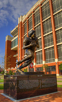 Oklahoma University Photograph - Billy Sims by Ricky Barnard