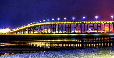 Photograph - Biloxi Bay Bridge by Barry Jones