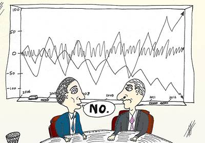 Financial Mixed Media - Binary Options Charts No Cartoon by OptionsClick BlogArt