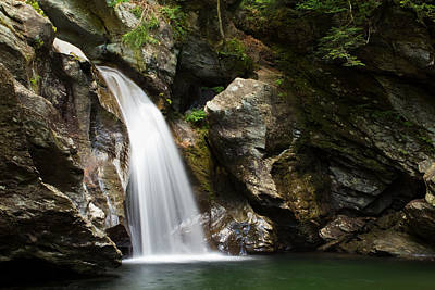 Vermont Wilderness Photograph - Bingham Falls Stowe Vermont by Stephanie McDowell