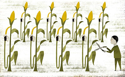 Cutting The Growth Digital Art - Biofuel by Luciano Lozano