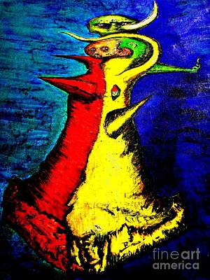 Vodou Painting - Biohazard Vodou -contrapicado by Raul Morales