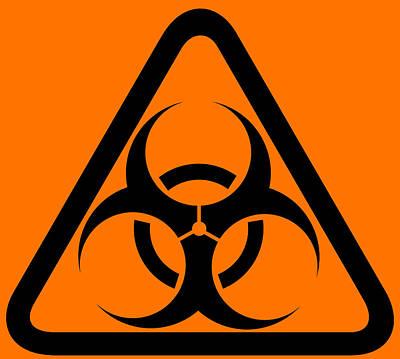 Biohazard Warning Sign Art Print by